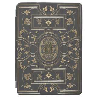 Classic Charcoal Grey With Gilded Botanical Design iPad Air Cover