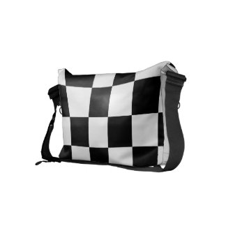 Classic Checkered I Bleed Racing Check Black White Courier Bag