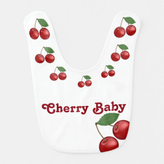 Classic Cherry (necklace) Baby Bib