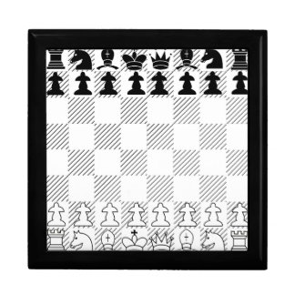 Classic chess board large square gift box