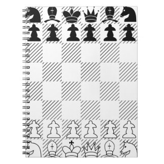 Classic chess board spiral notebook