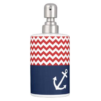 Classic Chevron Nautical Love Toothbrush Holder