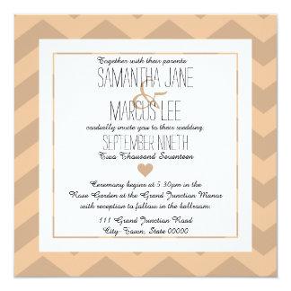 Classic Chevron Wedding Invitation