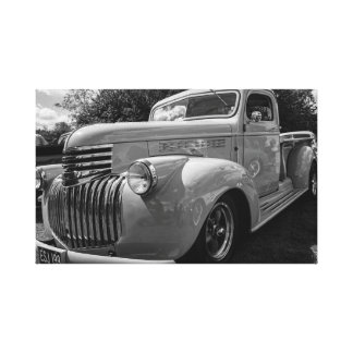 """Classic Chevvy truck"" canvas prints/wall art"