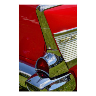 Classic Chevy Car Design Poster