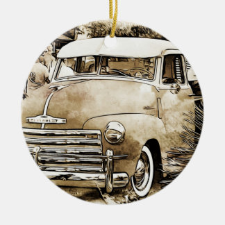 Classic Chevy Chevrolet Truck Christmas Ornament