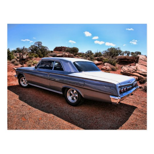Classic Chevy Impala Muscle Car Postcard