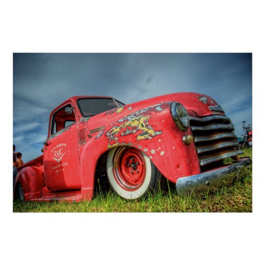 Classic Chevy Pickup Poster
