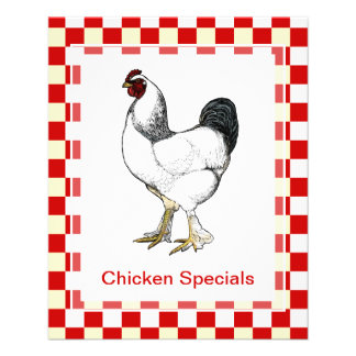 Classic Chicken Restaurant Menu Weekly Specials 11.5 Cm X 14 Cm Flyer