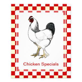 Classic Chicken Restaurant Menu Weekly Specials 11.5 Cm X 14 Cm Flyer
