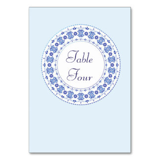 Classic China Blue Table Name / Number Cards Table Cards
