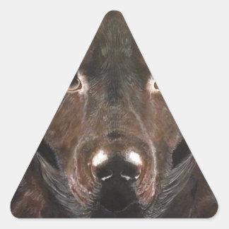 Classic Chocolate Labrador Triangle Sticker