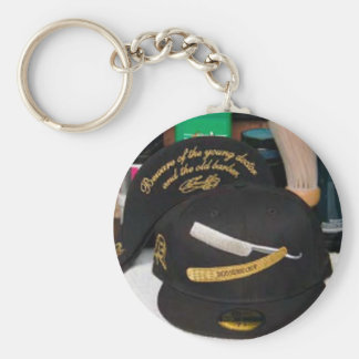 Classic Chop Cap Basic Round Button Key Ring