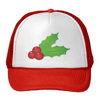 Classic Christmas Holly Cap