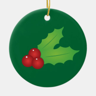 Classic Christmas Holly Christmas Ornament