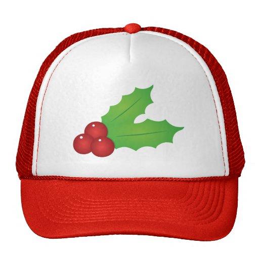 Classic Christmas Holly Mesh Hats