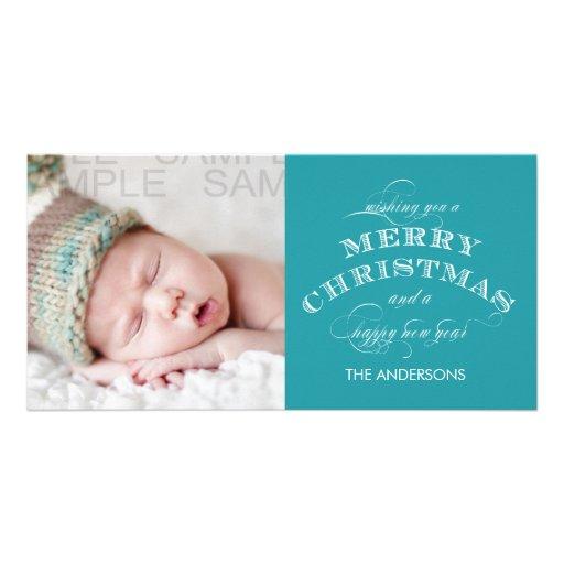 CLASSIC CHRISTMAS PHOTO CARD BLUE