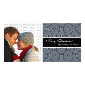 Classic Christmas Photo Card {Blue}