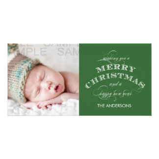 CLASSIC CHRISTMAS PHOTO CARD GREEN
