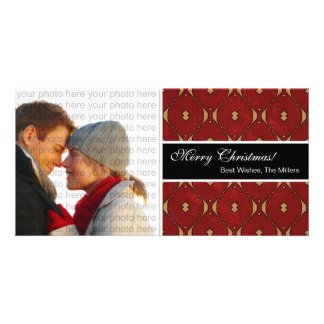 Classic Christmas Photo Card {Red}