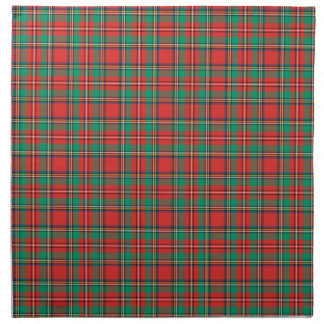 Classic Christmas Plaid Cloth Napkins
