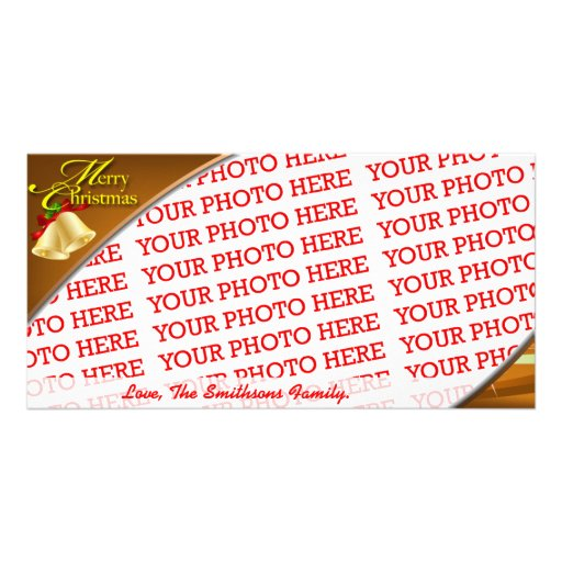 Classic Christmas Template Photo Greeting Card