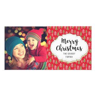 Classic Christmas Trees Christmas Photo Card