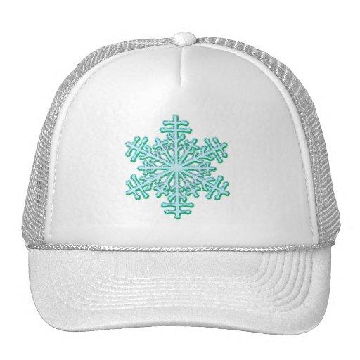 Classic Christmas Winter Snowflake Trucker Hat