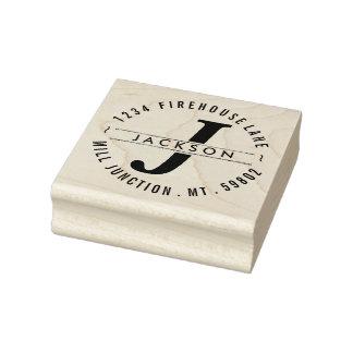 Classic Circle Return Address Stamp with Monogram