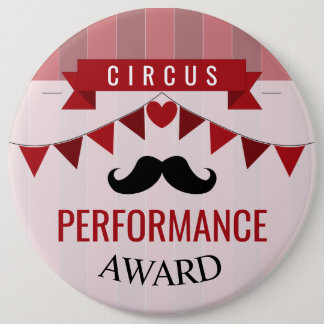 Classic Circus Poster Children's Birthday Party 6 Cm Round Badge