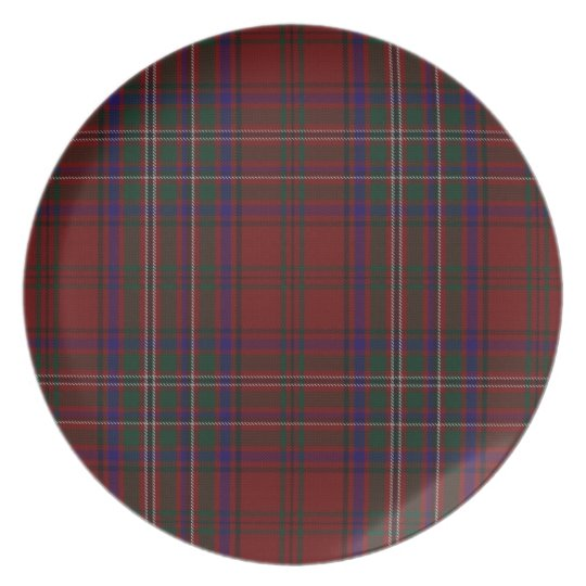 Classic Clan MacClure Tartan Plaid Plate