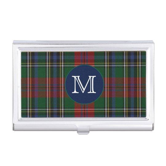 Classic Clan MacLean Tartan Plaid Monogram Business Card Holder