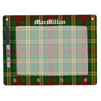 Classic Clan MacMillan Tartan Plaid Custom Dry Erase Whiteboard