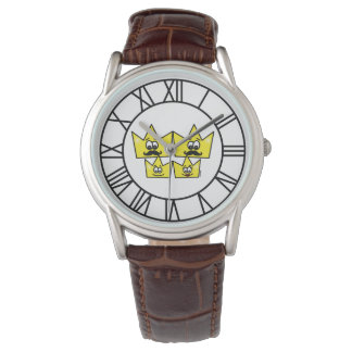 Classic clock Brown Leather - Gay Family Watch