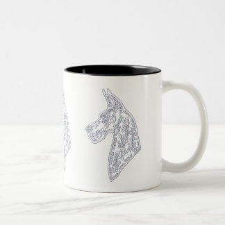 Classic Coffee Mug with Great Dane Sugar Skull