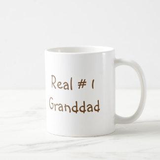 "Classic coffee mug with ""Real # 1 Granddad"