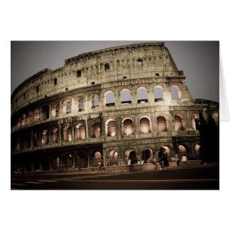 Classic coliseum greeting card
