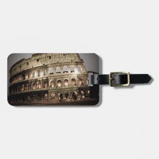 Classic coliseum luggage tag