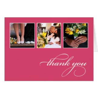 CLASSIC COLLAGE | WEDDING THANK YOU CARD