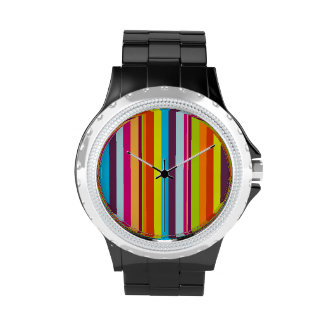Classic Colorful Stripes Wrist Watch