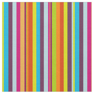 Classic Colorful Stripes Fabric