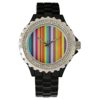 Classic Colorful Stripes Wrist Watch