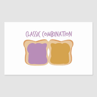 Classic Combination Rectangle Sticker