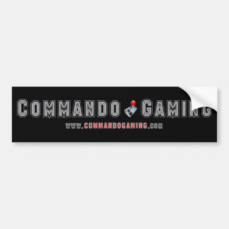 Classic Commando Gaming Bumper Sticker