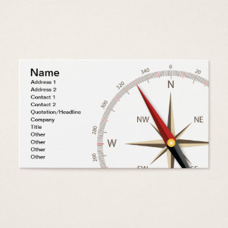 Classic compass business card