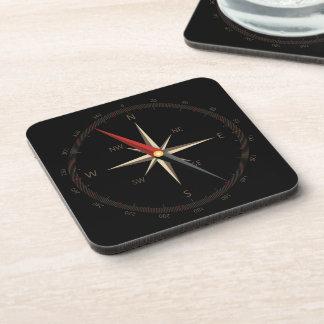 Classic compass coasters