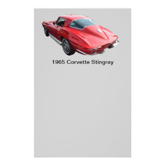 Classic Corvette Coupe Personalized Flyer