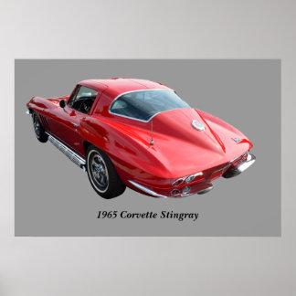 Classic Corvette Coupe Poster
