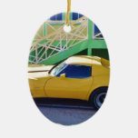 Classic Corvette Stingray. Ceramic Oval Decoration