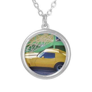 Classic Corvette Stingray. Silver Plated Necklace